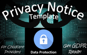Privacy Notice template GDPR