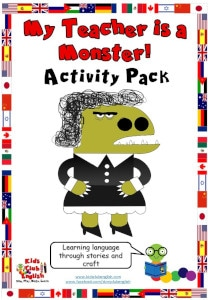 My Teacher is a Monster Activity Pack