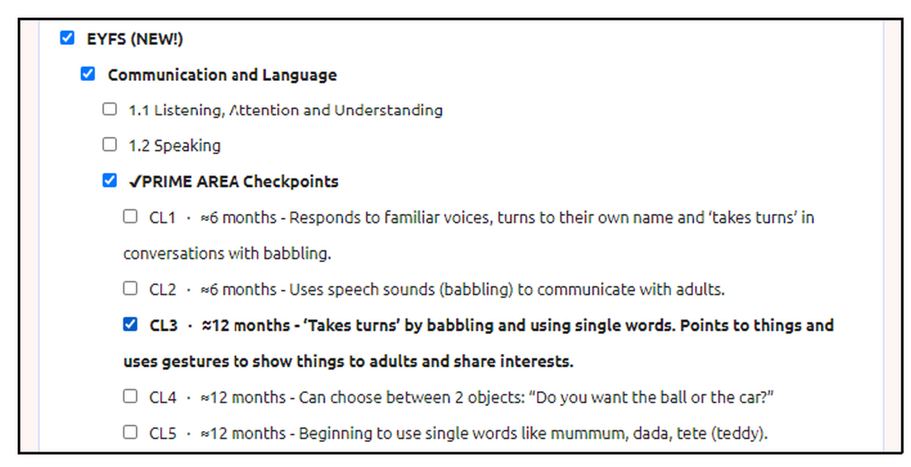NEW EYFS Example4