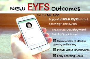 New EYFS Outcomes for MK App