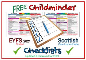 FREE Childminder Checklists