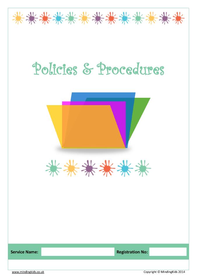 Policies Amp Procedures Pack Mindingkids