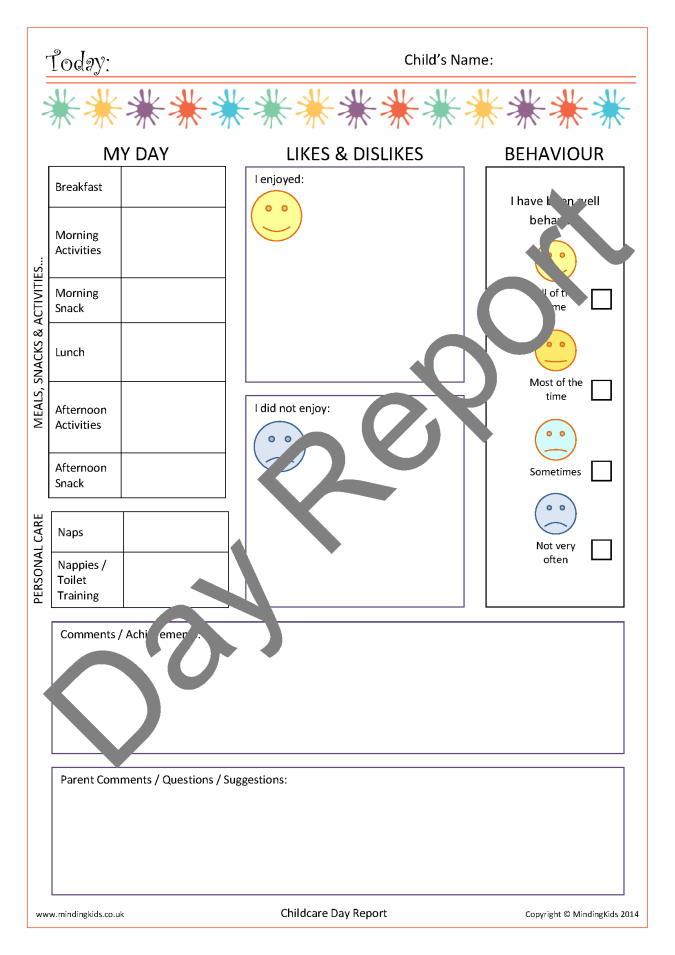 Contact Diaries 10 ...  Daily Diary Template
