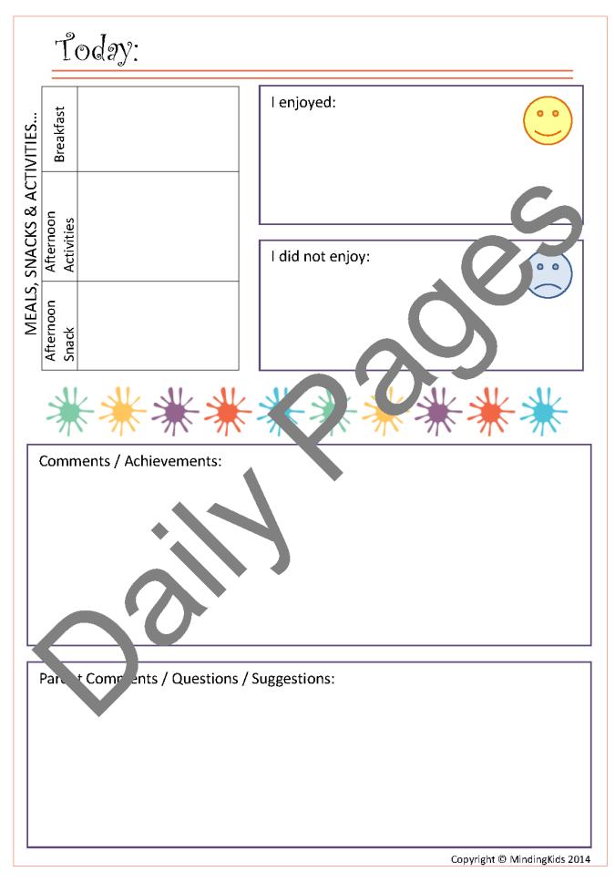 Weekly Activities Report Template