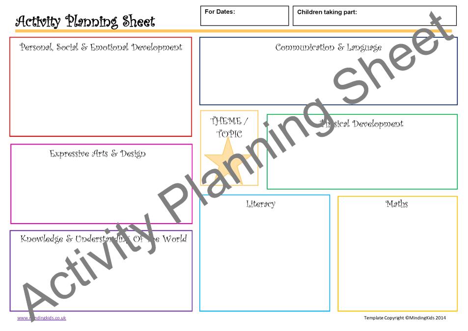 Activity Planning Pack - MindingKids