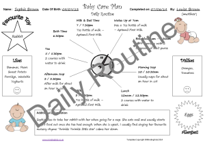 Baby Care Plan_Daily Routine_example
