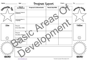 Basic Areas of Development