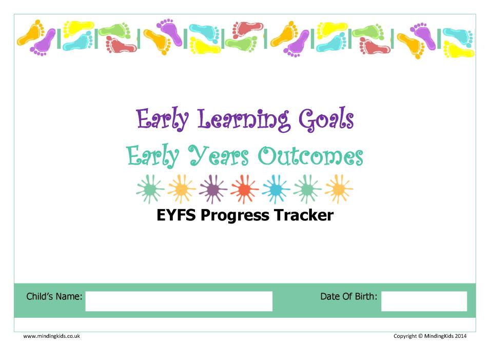 eyfs progress tracker mindingkids