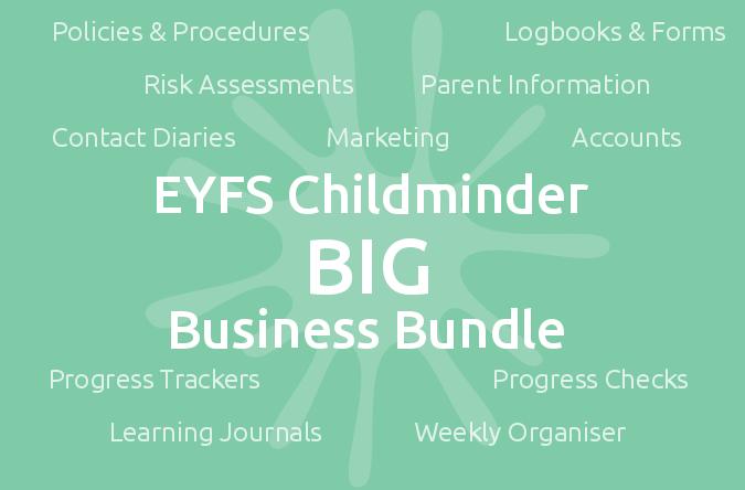 EYFS Childminder BIG Business Bundle