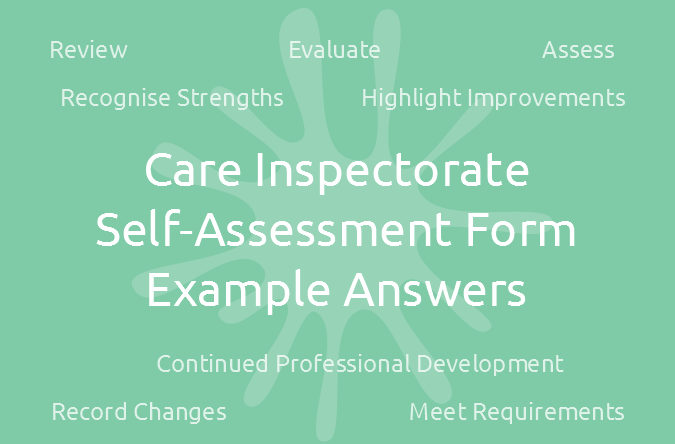 Care Inspectorate Self-Assessment Form EXAMPLE Answers
