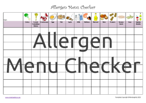 Allergen Menu Checker