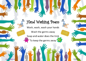 Hand washing poem