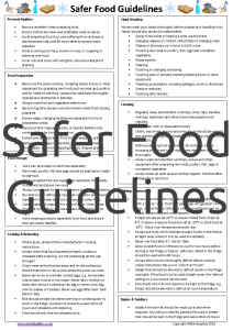 Safer Food Guidelines