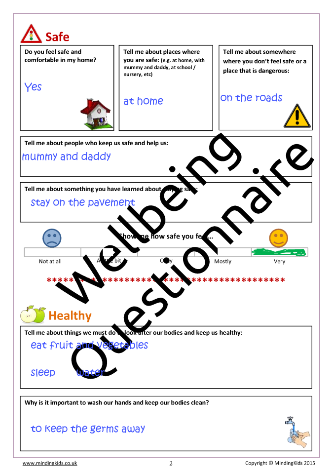Children\'s Wellbeing Questionnaire & Review - MindingKids