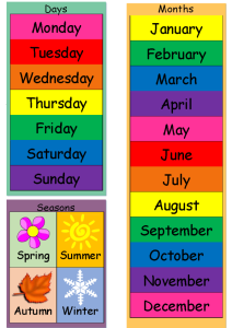 Days, Months & Seasons