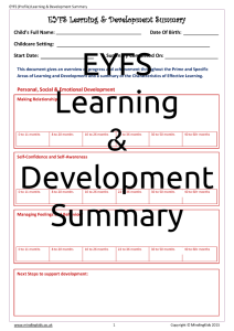 EYFS (Profile) Learning & Development Summary_Page_1