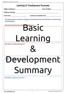 Learning & Development Summary (Basic Areas)_Page_1