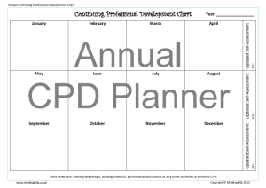 Annual CPD Chart