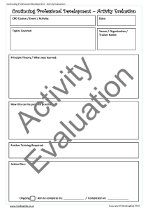 CPD Activity Evaluation