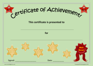 Certificate of Achievement_Green