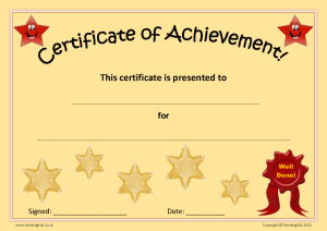 Certificate of Achievement_Orange