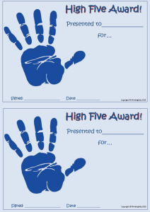 High Five Award_blue