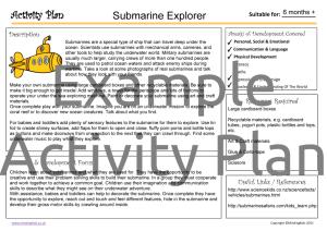 Activity Plan - Submarine Explorer
