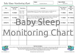Baby Sleep Monitoring Chart_example