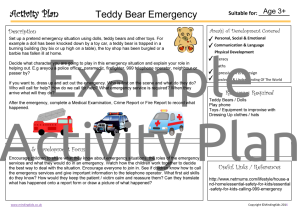 Activity Plan - Teddy Bear Emergency