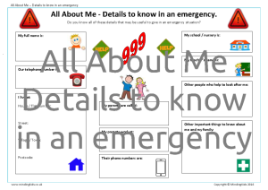 All About Me-Emergency Details_BOY