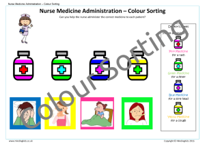 Nurse Medicine Administration_Colour Sorting