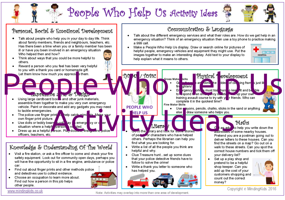 People Who Help Us Activity Pack - MindingKids