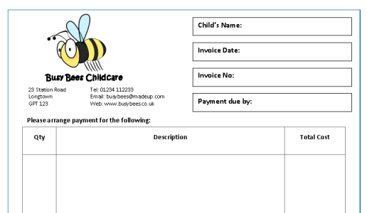 Invoices Receipts Mindingkids