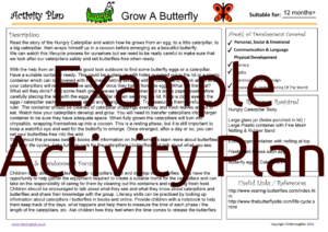 Activity Plan - Grow a Butterfly