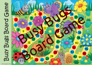 Busy Bugs board game