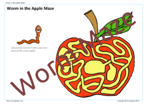 Worm in the Apple Maze