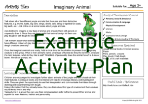Activity Plan - Imaginary Animal