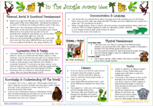 In The Jungle Activity Ideas