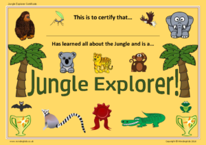 Jungle Explorer Certificate
