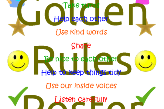 golden rules poster free resource