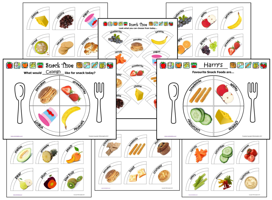 Snack Selector Cards