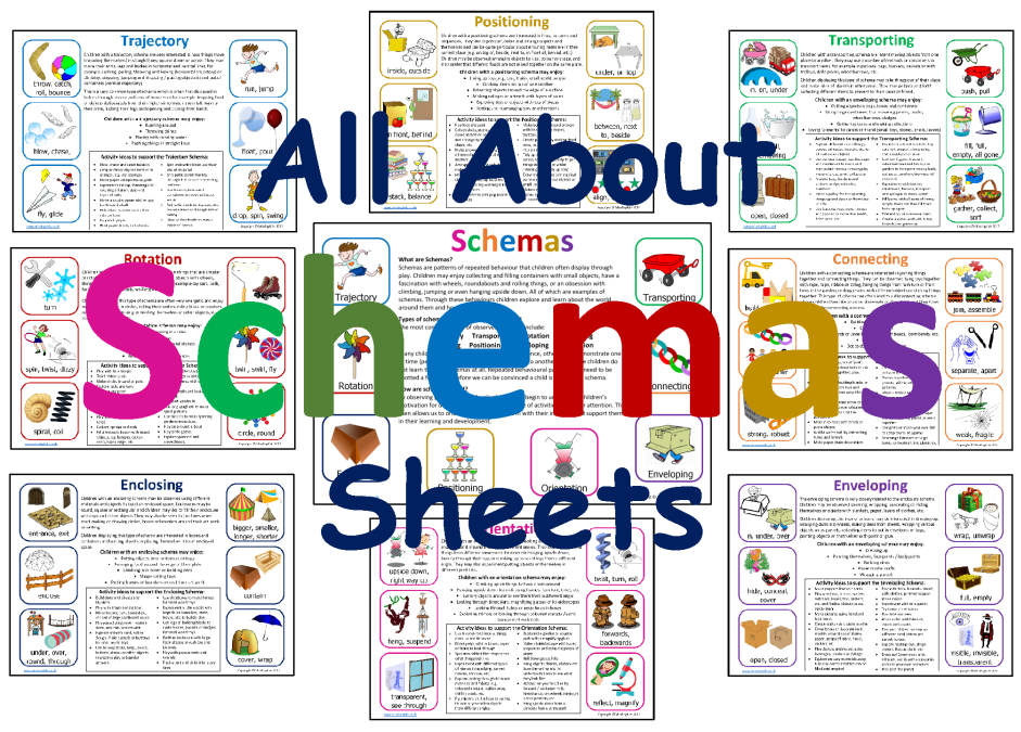 All About Schemas Sheets - MindingKids