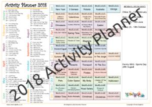2018 Activity Planner