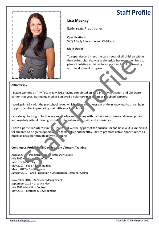 Childminder Assistant Employment Pack Mindingkids