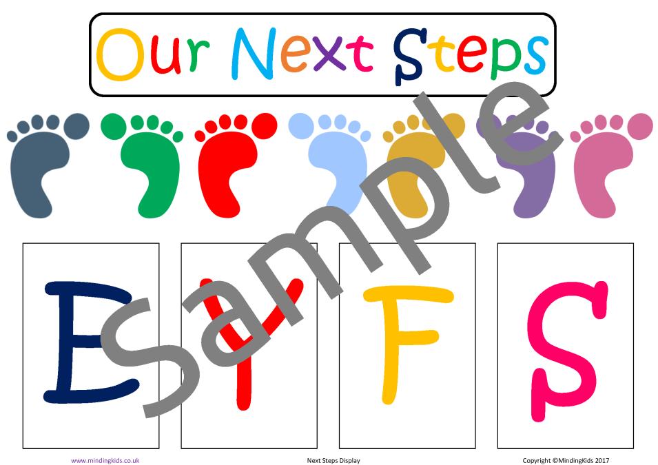 EYFS Next Steps Display - MindingKids