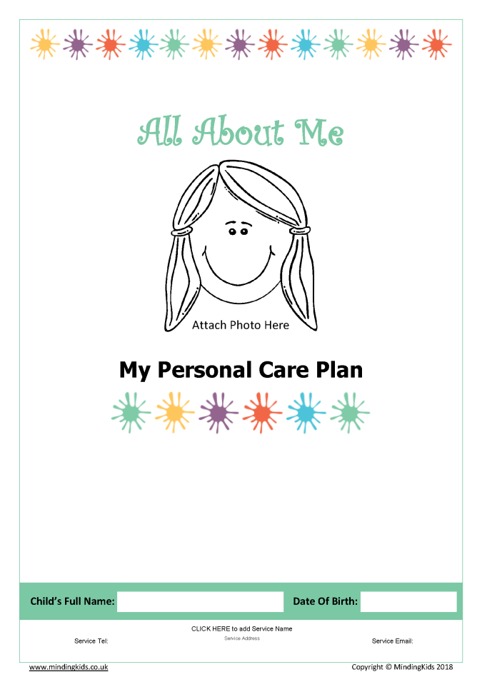 Care Plan cover girl