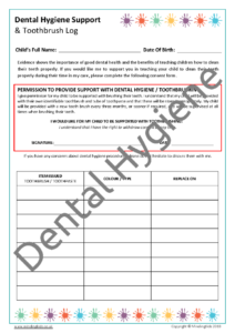 Dental Hygiene / Tooth brushing Consent