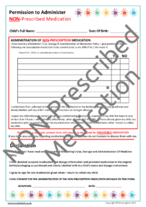 Non-Prescribed Medication Consent