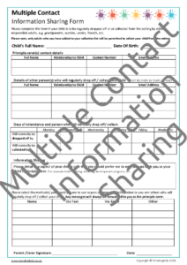 Multiple Contact Information Sharing Form