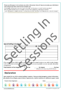 Settling In Sessions Consent Form